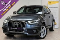 USED 2014 64 AUDI Q3 2.0 TDI QUATTRO S LINE PLUS 5d 140 BHP SAT NAV, PARKING SYSTEM PLUS, CRUISE, ELECTRIC FOLDING MIRRORS, HEATED SEATS