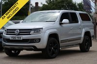 USED 2015 15 VOLKSWAGEN AMAROK 2.0 DC TDI ULTIMATE 4MOTION 1d AUTO 180 BHP £14995 PLUS VAT, REVERSING CAMERA