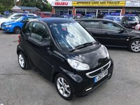 2014 SMART FORTWO 1.0 EDITION 21 MHD 2d AUTO 71 BHP IN BLACK WITH ONLY 28000 MILES WITH AIR CON IN IMMACULATE CONDITION. £4499.00