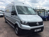USED 2018 67 VOLKSWAGEN CRAFTER LWB 2.0 CR35 TDI LWB H/R STARTLINE 138 BHP 1 OWNER FSH AIR CON PDC CRUISE MANUFACTURERS WARRANTY AIR CONDITIONING EURO 6 FRONT AND REAR PARKING SENSORS CRUISE CONTROL SPARE KEY 6 SPEED BLUETOOTH ELECTRIC WINDOWS AND MIRRORS