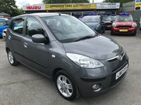 2010 HYUNDAI I10 1.2 COMFORT 5d 77 BHP IN METALLIC GREY WITH ONLY 40000 MILES AMD ONLY ONE OWNER AND FULL SERVICE HISTORY £3299.00