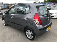 USED 2010 10 HYUNDAI I10 1.2 COMFORT 5d 77 BHP IN METALLIC GREY WITH ONLY 40000 MILES AMD ONLY ONE OWNER AND FULL SERVICE HISTORY APPROVED CARS ARE PLEASED TO OFFER THIS HYUNDAI I10 1.2 COMFORT 5d 77 BHP IN METALLIC GREY WITH ONLY 40000 MILES AND ONLY ONE OWNER FROM NEW WITH A FULL SERVICE HISTORY WITH A FULLY STAMPED SERVICE BOOK ONE NOT TO BE MISSED AN IDEAL SMALL LOW MILEAGE FAMILY RUNAROUND.