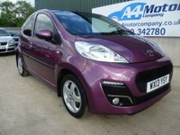 USED 2013 13 PEUGEOT 107 1.0 12v Allure 5dr LOW TAX £30- FINANCE AVAILABLE