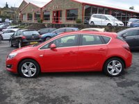 USED 2013 62 VAUXHALL ASTRA 1.6 SRI 5d 113 BHP LOW MILEAGE WITH HISTORY