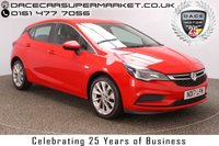 USED 2017 17 VAUXHALL ASTRA 1.4 ENERGY 5DR 1 OWNER 123 BHP BLUETOOTH + HEATED SEATS + HEATED STEERING WHEEL + CRUISE CONTROL + MULTI FUNCTION WHEEL + DAB RADIO + XENON HEADLIGHTS + ELECTRIC WINDOWS + ELECTRIC MIRRORS + 17 INCH ALLOY WHEELS