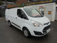 2017 FORD TRANSIT CUSTOM 2.0 290 TREND SHORT WHEEL BASE LO ROOF P/V 130 BHP EURO 6 LOW MILEAGE ONLY 45,000 UNDER MAIN DEALER WARRANTY TILL 2020  £10750.00