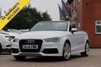 USED 2014 14 AUDI A3 2.0 TDI S LINE 2d 148 BHP SATELLITE NAVIGATION + BANG + OLUFSEN SOUND