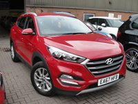 USED 2017 67 HYUNDAI TUCSON 1.6 GDI SE BLUE DRIVE 5d 130 BHP ANY PART EXCHANGE WELCOME, COUNTRY WIDE DELIVERY ARRANGED, HUGE SPEC