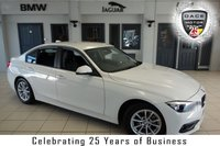 USED 2016 16 BMW 3 SERIES 2.0 320D ED PLUS 4d 161 BHP FINISHED IN STUNNING ALPINE WHITE WITH FULL BLACK LEATHER SEATS + BMW SERVICE HISTORY + SATELLITE NAVIGATION + £20 ROAD TAX + DAB RADIO + BLUETOOTH + HEATED FRONT SEATS + REAR PARKING SENSORS + CRUISE CONTROL + AUTOMATIC AIR CONDITIONING