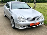 USED 2005 05 MERCEDES-BENZ C CLASS 2.1 C220 CDI SE SPORTS AUTO 148 BHP 3DR COUPE 1 OWNER* LTHR* PAN ROOF* NAV