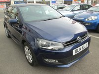 2014 VOLKSWAGEN POLO 1.2 MATCH EDITION 5d 69 BHP £6995.00