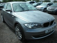 USED 2008 58 BMW 1 SERIES 2.0 118D SE 5d 141 BHP Nice alloys - 2 Previous owners