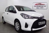 USED 2015 65 TOYOTA YARIS 1.0 VVT-I ACTIVE 5d 69 BHP Fantastic  Yaris at a great price. Extremely reliability and solid build quality are the norm with Toyotas and the Yaris is no exception. It wont hang around long so get on that 'phone before its gone. 12 months MOT, and Fully serviced upon sale, Full service history, Excellent bodywork, Black Cloth interior - Excellent Condition, Tyre condition Excellent, Solid White, We offer ZERO deposit finance at competitive rates and we welcome your part exchange. To arrange a viewing or test drive simply