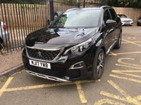 USED 2017 17 PEUGEOT 3008 1.6 BLUEHDI S/S GT LINE 5d 120 BHP STUNNING NERA BLACK METALLIC PAINT WORK, BLACK ARTICO LEATHER CLOTH INTERIOR TRIM,POLISHED ALLOY WHEELS, SAT NAV, DAB  RADIO, REVERSE CAMERA, FRONT AND REAR SENSRORS, VIRTUAL COCKPIT, 1 OWNER, LOW MILEAGE