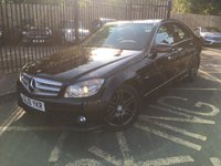 USED 2010 10 MERCEDES-BENZ C CLASS 2.1 C220 CDI BLUEEFFICIENCY SPORT 4d AUTO 170 BHP METALLIC OBSIDIAN BLACK PAINT WORK, HALF BLACK ARTICO/CLOTH INTERIOR, 17 INCH AMG TWIN SPOKE ALLOY WHEELS, PANORAMIC GLASS SUNROOF, CRUISE CONTROL, HEATED SEATS, BIG SPEC, SPORTY DIESEL