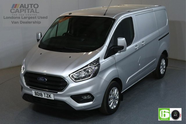 2018 18 FORD TRANSIT CUSTOM 2.0 300 LIMITED L1H1 SWB 129 BHP EURO 6 AIR CON  MANUFACTURER WARRANTY UNTIL 04/07/2021