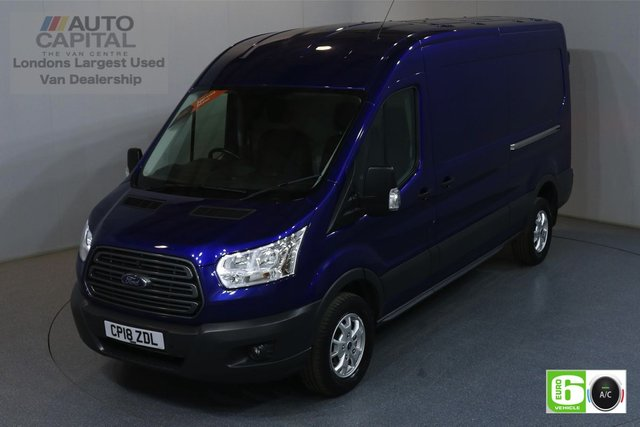 2018 18 FORD TRANSIT 2.0 350 TREND L3H2 129 BHP RWD EURO 6 AIR CON MANUFACTURER WARRANTY UNTIL 18/07/2021