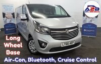 2016 VAUXHALL VIVARO 1.6 CDTi 2900 SPORTIVE Long Wheel Base in Silver with Air Conditioning, Bluetooth, Cruise Control, Rear Parking Sensors and more £9980.00