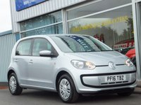 USED 2016 16 VOLKSWAGEN UP 1.0 MOVE UP 5dr ....ONE OWNER. FULL VOLKSWAGEN SERVICE HISTORY. (20 Pounds Road tax & 64mpg)