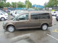 USED 2012 12 VOLKSWAGEN CADDY MAXI 1.6 TDI C20 LIFE AUTOMATIC ( DSG ) FIVE SEAT WHEELCHAIR ACCESSIBLE VEHICLE, NO VAT TO PAY 12 MONTHS MOT   VOLKSWAGEN CADDY WHEELCHAIR ACCESSIBLE VEHICLE NO VAT TO PAY