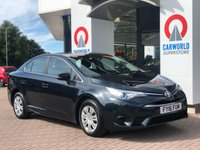 USED 2016 16 TOYOTA AVENSIS 1.6 D-4D ACTIVE 4d 110 BHP 1 OWNER     BLUETOOTH   AC  