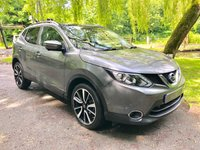 USED 2014 14 NISSAN QASHQAI 1.5 DCI TEKNA 5d 108 BHP A Premium Spec Teckna Edition with a Full Documented Service History and Impressive Fuel Economy: 74.3MPG. Presented in Metallic Grey with a Luxury Full Black Leather Interior,18 Inch Polished Alloy Wheels and a Panoramic Glass Sunroof. Features Include Front & Rear Parking Sensors with 360 Cameras, Heated Electric Seats with Contrast Stitch, Satellite Navigation, Bluetooth Connectivity, DAB Radio, Lane Keep Assist, Blind Spot Assist, Leather Multi Function Steering Wheel, Cruise Control