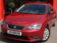 USED 2016 16 SEAT LEON 1.6 TDI SE TECHNOLOGY 5d 105 S/S £0 TAX, 1 OWNER, FULL SERVICE HISTORY,  SAT NAV, DAB RADIO, BLUETOOTH PHONE & MUSIC STREAMING, CRUISE CONTROL, MANUAL 5 SPEED GEARBOX, START STOP TECHNOLOGY, LED LIGHTS W/ DRL, FRONT FOG LIGHTS, 16 INCH 10 SPOKE ALLOYS, GREY CLOTH INTERIOR, LEATHER MULTI FUNCTION STEERING WHEEL, AIR CONDITIONING, CD HFI WITH 2x SD CARD READERS, MDI INPUT FOR IPOD / USB DEVICES, FRONT CENTRE ARM REST, ILLUMINATING VANITY MIRRORS, ELEC WINDOWS, ELEC HEATED MIRROR, REMOTE CENTRAL LOCKING, ISO FIX, VAT QUALIFYING.