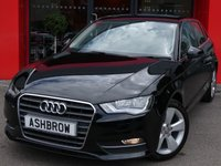 USED 2015 65 AUDI A3 SPORTBACK 1.6 TDI SPORT 5d 110 S/S UPGRADE SAT NAV, DAB RADIO, BLUETOOTH PHONE & MUSIC STREAMING, AUDI MUSIC INTERFACE FOR IPOD / USB DEVICES (AMI), MANUAL 6 SPEED,  INCH 5 SPOKE ALLOYS, FRONT FOG LIGHTS, HEADLAMP WASHERS, GREY CLOTH INTERIOR, SPORT SEATS, LEATHER MULTI FUNCTION STEERING WHEEL, DUAL CLIMATE AIR CON, FRONT ARM REST, AUDI DRIVE SELECT, CD HIFI WITH 2x SD CARD READERS, ELECTRIC WINDOWS, ELECTRIC HEATED MIRRORS, ISO FIX, FOLDING REAR SEATS, TYRE PRESSURE MONITORING SYSTEM, 1 OWNER FROM NEW, £20 ROAD TAX, AUDI HISTORY