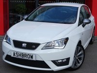 USED 2017 17 SEAT IBIZA 1.2 TSI FR TECHNOLOGY 5d 90 BHP FULL SEAT SERV HIST, 1 OWNER FROM NEW, U/G 17 INCH 2 TONE DYNAMIC ALLOY WHEELS, U/G TITANIUM EXTERIOR COLOUR PACK (INC TITANIUM FINISH GRILLE + TITANIUM FINISH DOOR MIRRORS), SAT NAV, TRAFFIC UPDATE LIST, DAB, CRUISE, SEAT FULL LINK (INC ANDROID AUTO, APPLE CARPLAY + MIRROR LINK), BLUETOOTH PHONE W/ AUDIO STREAMING, USB + AUX IN, ELEC HEATED POWER FOLDING MIRRORS, AUTO LIGHTS & WIPERS, A/C, FRONT FOGS, CD W/ SD READER X2, TYRE PRESSURE MONITORING, DIS W/ DIGI SPEED DISPLAY, VAT QUALIFYING.