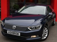 USED 2015 15 VOLKSWAGEN PASSAT 2.0 TDI SE BUSINESS BLUEMOTION TECH 4d 150 S/S FINISHED IN NIGHT BLUE METALLIC, 1 OWNER FROM NEW, FULL VW SERVICE HISTORY, SAT NAV, FRONT & REAR PARKING SENSORS WITH DISPLAY (PARK PILOT), DAB RADIO, BLUETOOTH PHONE & MUSIC STREAMING, ADAPTIVE CRUISE CONTROL WITH FRONT ASSIST, 17 INCH 10 SPOKE ALLOYS, TINTED GLASS, GREY CLOTH INTERIOR, LEATHER MULTIFUNCTION STEERING WHEEL, ELECTRIC HEATED FOLDING MIRRORS, LIGHT & RAIN SENSORS, KEYLESS START, AIR CONDITIONING, AUTO HILL HOLD, DRIVING MODE SELECT, AUX & USB INPUTS, £20 ROAD TAX, VAT Q