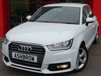 USED 2016 66 AUDI A1 SPORTBACK 1.6 TDI SPORT 5d 115 S/S £0 TAX, FULL AUDI SERVICE HISTORY, 1 OWNER FROM NEW, DAB RADIO, BLUETOOTH PHONE & MUSIC STREAMING, AUDI MUSIC INTERFACE (AMI), AUDI DRIVE SELECT, MANUAL 5 SPEED GEARBOX, START STOP TECHNOLOGY, FRONT FOG LIGHTS, 16 INCH 5 SPOKE ALLOYS, GREY TORNADO CLOTH INTERIOR, SPORT SEATS, LEATHER 3 SPOKE MULTIFUNCTION STEERING WHEEL, AIR CONDITIONING, CD & SD CARD READER, TYRE PRESSURE MONITORING SYSTEM, ELECTRIC WINDOWS, ELECTRIC HEATED DOOR MIRRORS, ISO FIX, FOLDING REAR SEATS, VAT QUALIFYING.