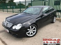 USED 2006 56 MERCEDES-BENZ C CLASS 2.1 C220 CDI SE SPORTS 3d AUTO 148 BHP ALLOYS PRIVACY LEATHER CRUISE A/C MOT 11/19 BLACK MET WITH FULL BLACK LEATHER TRIM. CRUISE CONTROL. 17 INCH ALLOYS. COLOUR CODED TRIMS. PRIVACY GLASS. CLIMATE CONTROL INCLUDING AIR CON. R/CD PLAYER. MFSW. MOT 11/19. AGE/MILEAGE RELATED SALE. P/X CLEARANCE CENTRE - LS23 7FQ. TEL 01937 849492 OPTION 4