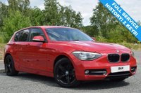 USED 2011 61 BMW 1 SERIES 2.0 118D SPORT 5d 141 BHP CRIMSON RED! PRIVACY GLASS! BLUETOOTH! CRUISE CONTROL!