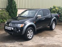 USED 2007 56 MITSUBISHI L200 2.5 4WD LWB WARRIOR DCB 1d 135 BHP NO VAT, MOT AUGUST 2020, CLEAN AND TIDY, TOWBAR, LINER