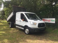 USED 2016 16 FORD TRANSIT 2.2 350 L3 DOUBLE CAB TIPPER 100PS Long Wheel Base Double Cab Tipper, Low Mileage