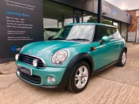 USED 2012 61 MINI HATCH ONE 1.6L ONE 3d 98 BHP Bluetooth, DAB, Full s/history, 2 keys
