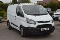 USED 2014 14 FORD TRANSIT CUSTOM 2.2 TDCi ECOnetic 270 L1H1 Panel Van 5dr ONE OWNER, ROOF RAILS, FINANCE