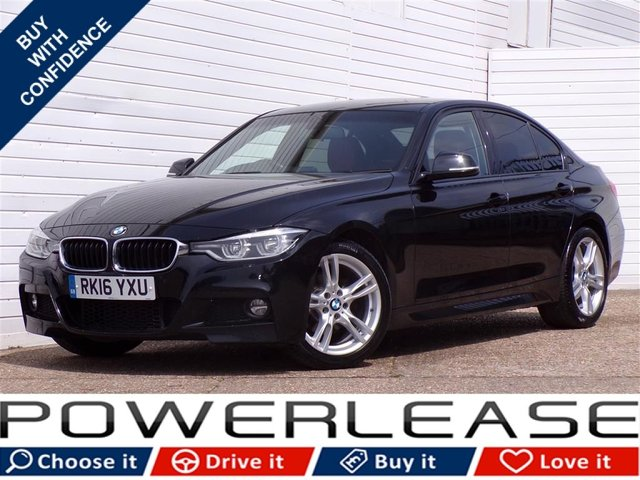 USED 2016 16 BMW 3 SERIES 2.0 318D M SPORT 4d AUTO 148 BHP 30POUNDTAX SAT NAV LEATHER FSH