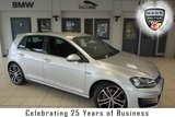 """USED 2016 16 VOLKSWAGEN GOLF 2.0 GTD DSG 5d 182 BHP FINISHED IN STUNNING SILVER WITH FULL CLOTH SPORTS SEATS + FULL VW SERVICE HISTORY + SATELLITE NAVIGATION + DAB RADIO + BLUETOOTH + ADAPTIVE CRUISE CONTROL + PARKING SENSORS + BI-XENON HEADLIGHTS + AIR CONDITIONING + 19"""" ALLOY WHEELS"""