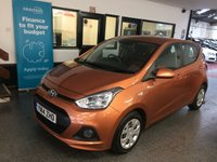 USED 2014 14 HYUNDAI I10 1.0 SE 5d 65 BHP Owned by two family members from new, full service history, February 2020 advisory free Mot. Fitted with Air Conditioning. Finished in Metallic Golden Orange.
