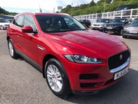 USED 2018 18 JAGUAR F-PACE 2.0 PORTFOLIO 5d AUTO 177 BHP One owner with only 6,000 miles & immaculate