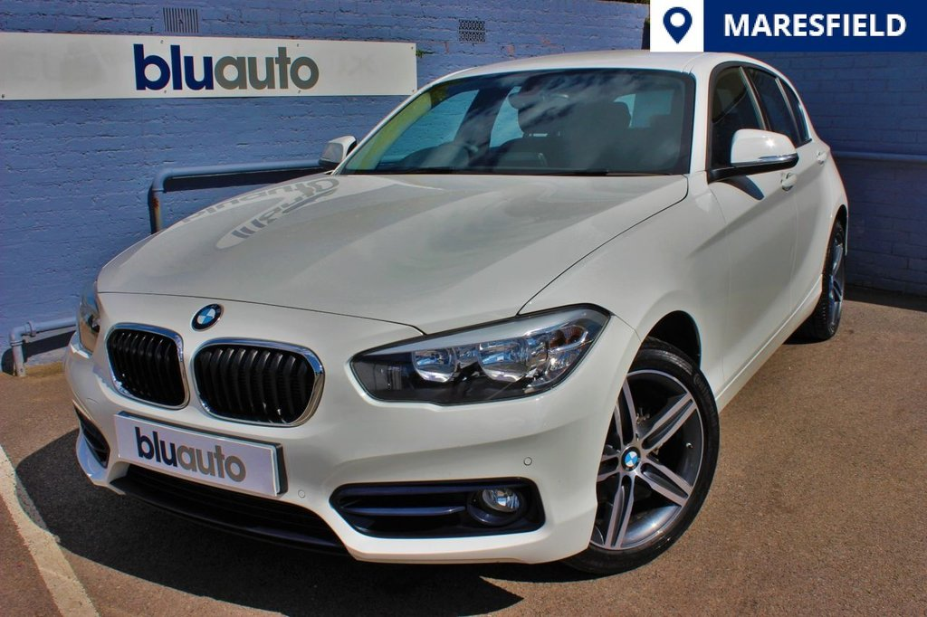 """USED 2015 65 BMW 118 D 2.0 SPORT 5d 147 BHP Front & Rear Parking Sensors, Satellite Navigation, Bluetooth with Audio Streaming, DAB Radio, 17"""" Diamond-Cut Alloys, Dual Climate & Cruise Control and a Full Service History..."""