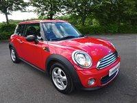 2011 MINI HATCH ONE 1.6 ONE 3d 98 BHP £3490.00