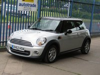 2012 MINI HATCH COOPER 1.6 COOPER 3d Pan roof DAB Aiir con Alloys £SOLD