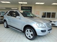 "USED 2008 08 MERCEDES-BENZ M CLASS 3.0 ML320 CDI SPORT 5d 222 BHP SATELLITE NAVIGATION + BLUETOOTH + SIDE STEPS + CRUISE CONTROL + CLIMATE CONTROL + 19"" ALLOYS +ROOF RAILS + HALF LEATHER TRIM + ELECTRIC SEATS + RADIO CD"