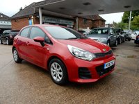 USED 2016 16 KIA RIO 1.1 CRDI 1 AIR ISG 5d 74 BHP AIR CON,GOOD HISTORY,BLUETOOTH,TWO KEYS,CHEAP TO RUN