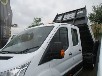 2016 FORD TRANSIT 2.2 125 BHP 350 TURBO DIESEL DOUBLE CAB TIPPER  £15950.00