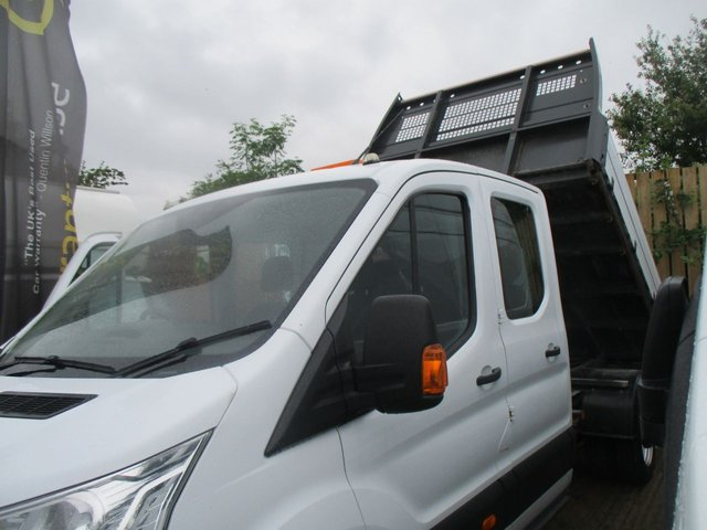 2016 16 FORD TRANSIT 2.2 125 BHP 350 TURBO DIESEL DOUBLE CAB TIPPER