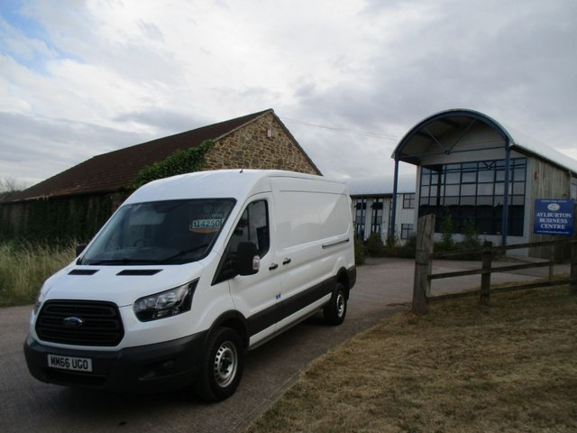 2016 66 FORD TRANSIT 2.0 350 TURBO DIESEL VAN 130 BHP L3 H2 LWB M/ROOF DEC16