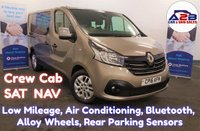 2016 RENAULT TRAFIC 1.6 DCi SL27 SPORT Crew Cab 6 Seater in Rare Colour (Stone Metallic) with SAT NAV, Air Conditioning, Alloy Wheels, Cruise Control, Bluetooth, Rear Parking Sensors and more £12980.00